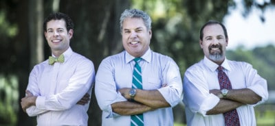 Dr. Ryan Reeves, Dr. Brad Durham, and Dr. Rod Strickland, cosmetic dentsits in Savannah
