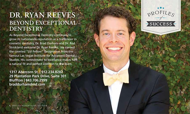 Dr. Reeves, Best Dentist in Savannah Magazine