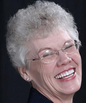 Rebecca's smiling portrait after dental treatment