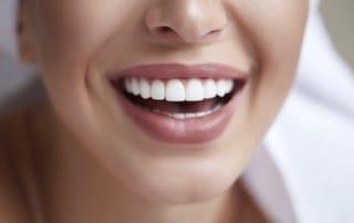 Female smile close up
