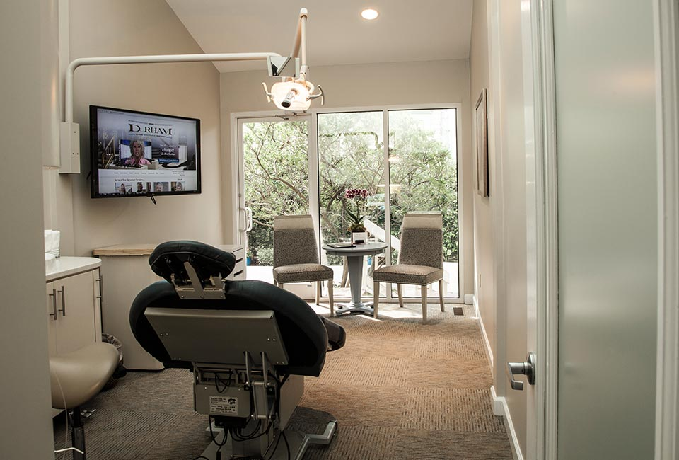 A treatment room at Beyond Exceptional Dentistry