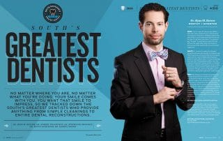 Dr. Ryan Reeves on the cover of Greatest Dentists in South Magazine